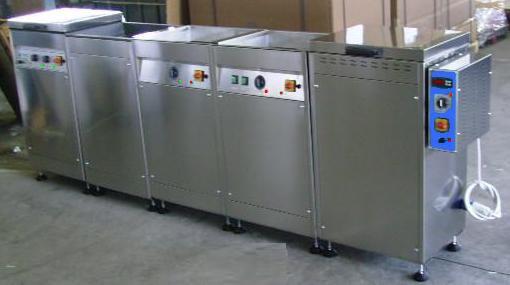 impianti con ultrasuoni, lavaggi, forni asciugatori