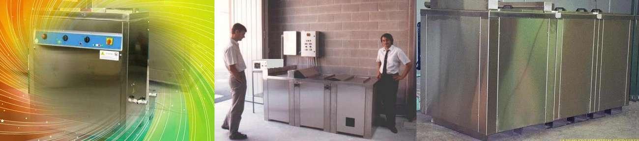 Noi costruiamo impianti per il lavaggio e la pulizia con ultrasuoni