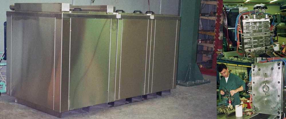 Impianti di pulizia, risciacquo e protezione stampi